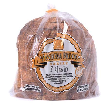 Nashoba Brook 7 Grain Bread Half Deli Sliced