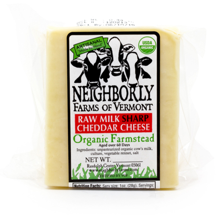 Neighborly Farms Sharp Raw Milk Cheddar