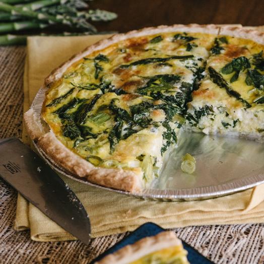 Asparagus, Spinach and Feta Quiche | Asparagus | Boston Organics