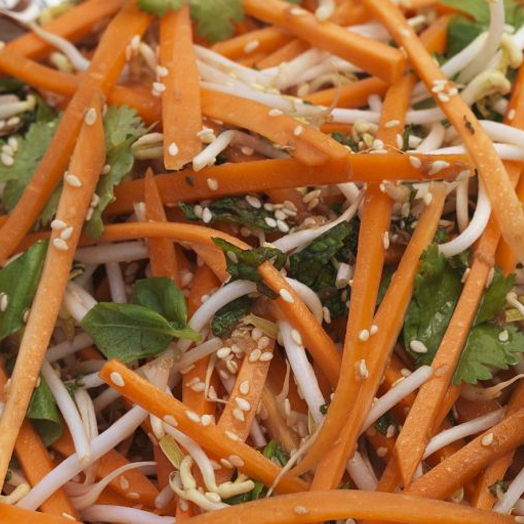 Bean Sprout, Carrot and Sesame Salad