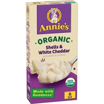 Annie's Organic Whole Wheat Shells & White Cheddar