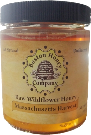 Boston Honey Company Massachusetts Wildflower Honey, 8 oz (Not Organic)