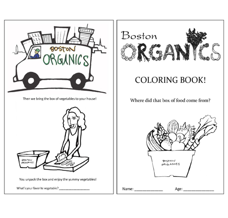 Boston Organics Coloring Book