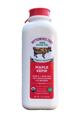 Butterworks Farm Organic Maple Kefir, 1 pint