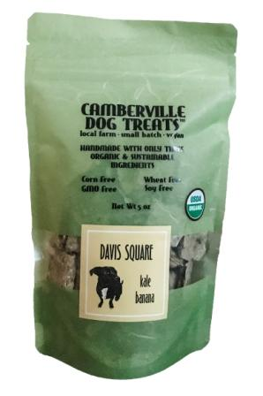 Camberville Dog Treats Organic Davis Square Pouch, Kale Banana