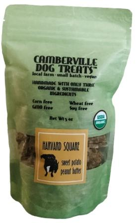 Camberville Dog Treats Organic Harvard Square Pouch, Sweet Potato Peanut Butter