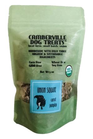 Camberville Dog Treats Organic Union Square Pouch, Carrot Pumpkin