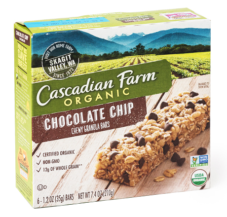 Cascadian Farm Organic Granola Bars - Chewy Chocolate Chip (6 bars)
