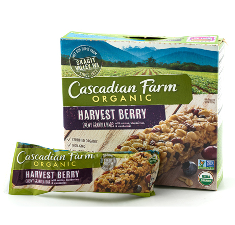 Cascadian Farm Organic Granola Bars - Chewy Harvest Berry (6 bars)