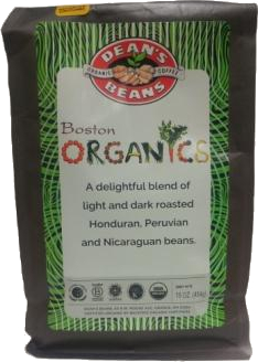 Dean's Beans Boston Organics Blend Coffee, Drip Grind