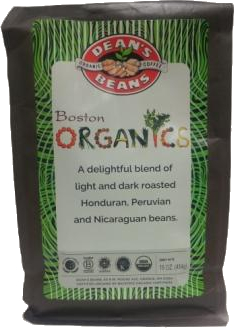 Dean's Beans Boston Organics Blend Coffee, Whole Bean