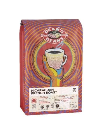 Dean's Beans Nicaraguan French Roast Coffee, Whole Bean