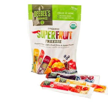 DeeBee's Organics Organic Super Fruit Freezies Popsicles, 12 bars