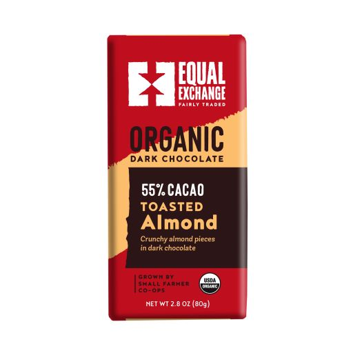 Equal Exchange Organic Dark Chocolate with Almonds