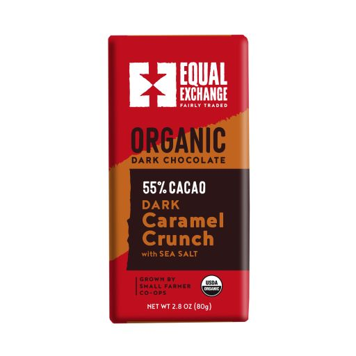 Equal Exchange Organic Dark Chocolate Caramel Crunch with Sea Salt