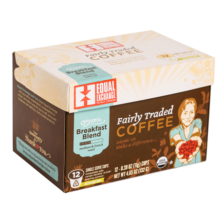 Equal Exchange Breakfast Blend Coffee, Single-Serve Cups