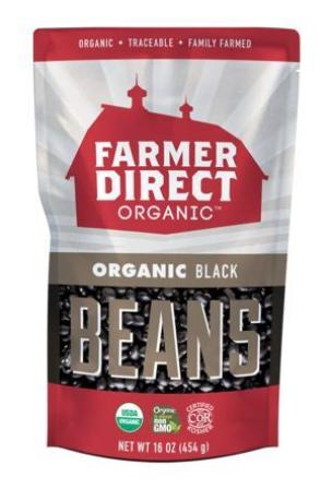 Farmer Direct Organic Dried Black Beans