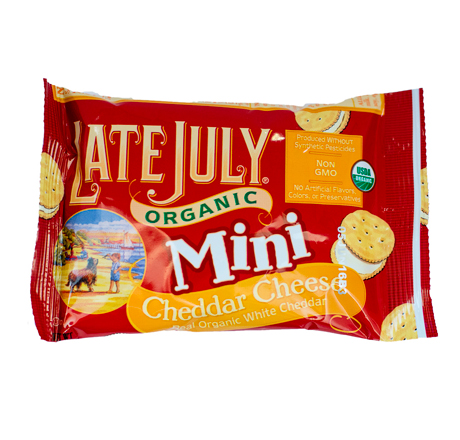 Late July Organic Mini Crackers - Cheddar Cheese