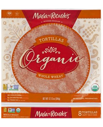 Maria and Ricardo's Organic Whole Wheat Tortillas, 8-inch