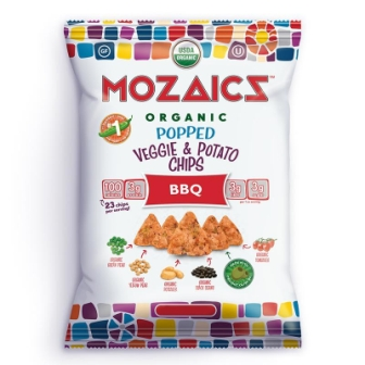 Mozaics Organic Popped Veggie & Potato Chips, BBQ