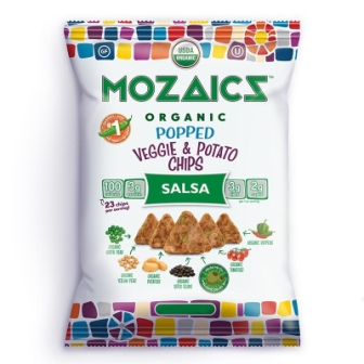 Mozaics Organic Popped Veggie & Potato Chips, Salsa