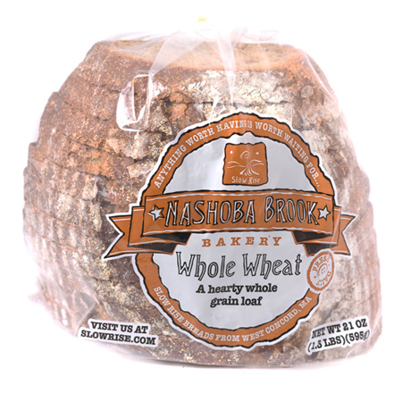 Nashoba Brook Whole Wheat Bread Half Deli Sliced