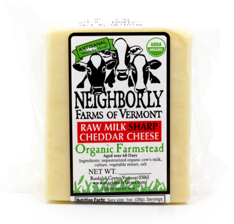 Neighborly Farms Raw Milk Mild Cheddar