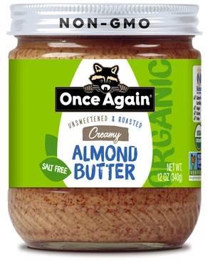 Once Again Organic Creamy Roasted Almond Butter, 12 oz