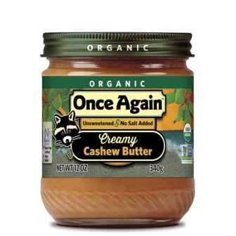 Once Again Organic Creamy Cashew Butter, 12 oz
