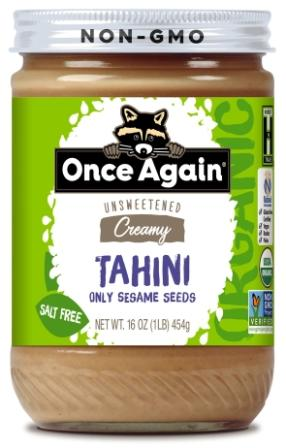 Once Again Organic Tahini, 16 oz