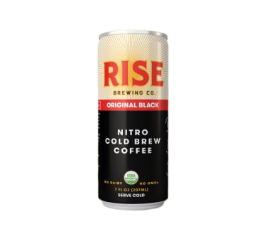 Rise Brewing Co. Organic Nitro Cold Brew Coffee, Original Black