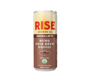 Rise Brewing Co. Organic Nitro Cold Brew Coffee, Mocha Latte