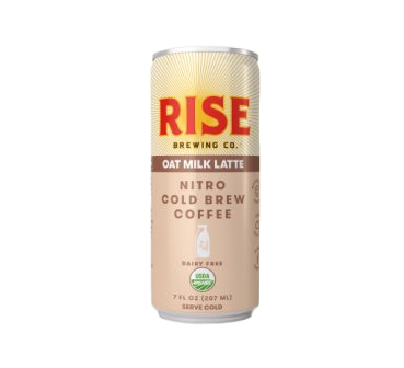 Rise Brewing Co. Organic Nitro Cold Brew Coffee, Oat Milk Latte
