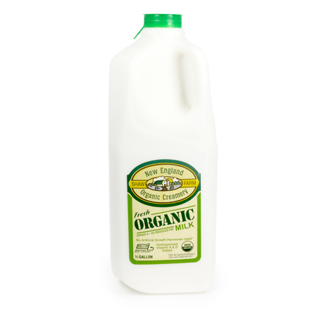 Shaw Farm Organic 2 Percent Milk