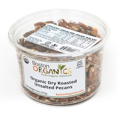 Organic Dry Roasted Unsalted Pecans