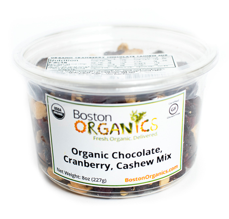 Organic Chocolate, Cranberry and Cashew Mix