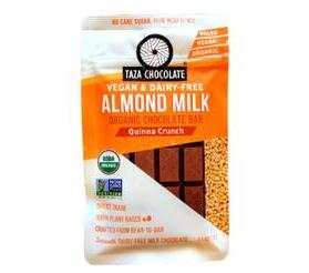 Taza Chocolate Organic Almond Milk Chocolate Bar, Quinoa Crunch