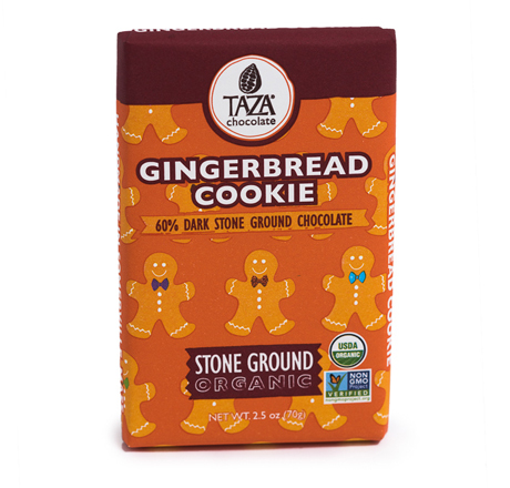 Taza Chocolate Organic Gingerbread Cookie Bar