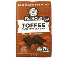 Taza Chocolate Organic Toffee, Almond and Sea Salt Bar