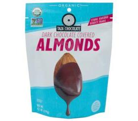 Taza Chocolate Organic Chocolate Covered Almonds, Pouch