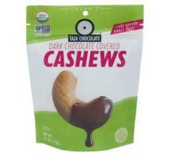 Taza Chocolate Organic Chocolate Covered Cashews, Pouch