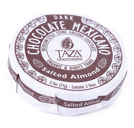 Taza Chocolate Organic Mexicano Disc Salted Almond