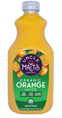 Uncle Matt's Organic Orange Juice, With Pulp, 52 oz