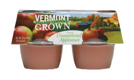 Vermont Village Unsweetened Apple Sauce, 4 cups