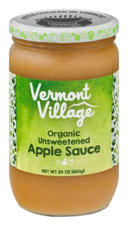 Vermont Village Unsweetened Apple Sauce, 24 oz jar