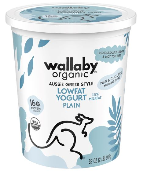 Wallaby Organic Greek Yogurt - Lowfat Plain