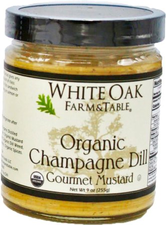 White Oak Farm & Table Organic Champagne Dill Mustard