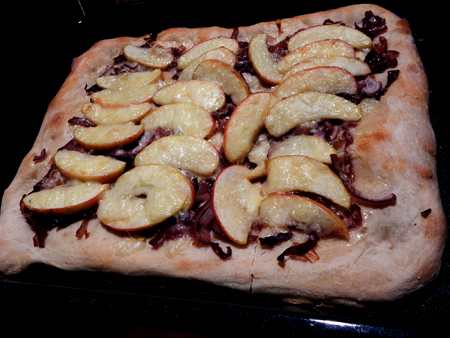Apple Cheddar Maple Pizza (The Vermonter)
