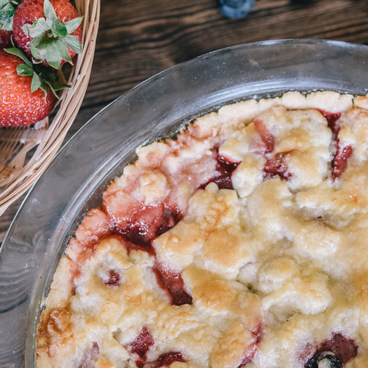 Blueberry and Strawberry Pie