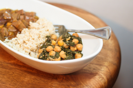Chickpea Curry with Kale or Swiss Chard